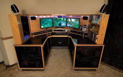 computer desk for 3 monitors computer desk creation 3 monitors and 1500 blinking leds