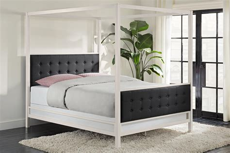 modern canopy beds dhp furniture soho modern canopy bed
