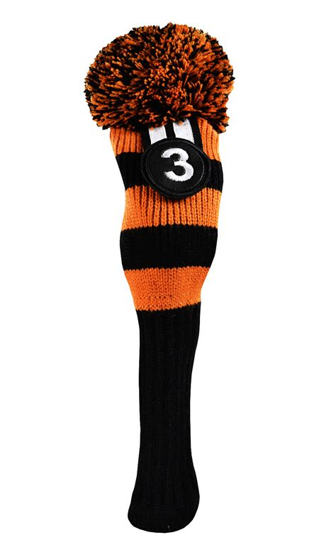 knit golf headcovers cook pom pom knit hybrid wood cover by cook