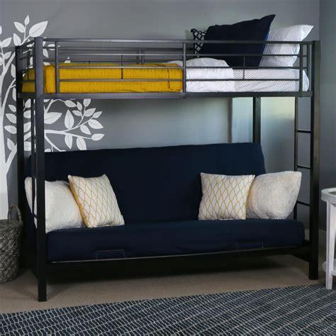 white bunk bed with futon walker edison futon metal bunk bed