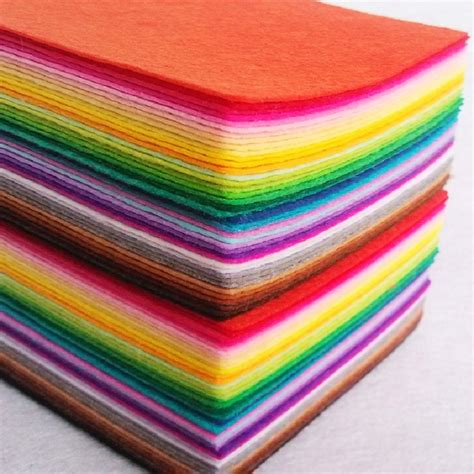with felt 80 pieces felt fabric for scrapbooking diy handmade sewing
