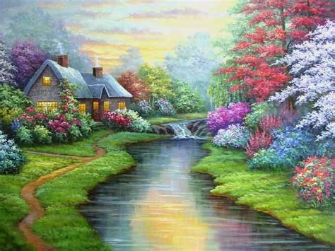 acrylic painting scenery landscape painting acrylic landscape painting workshop