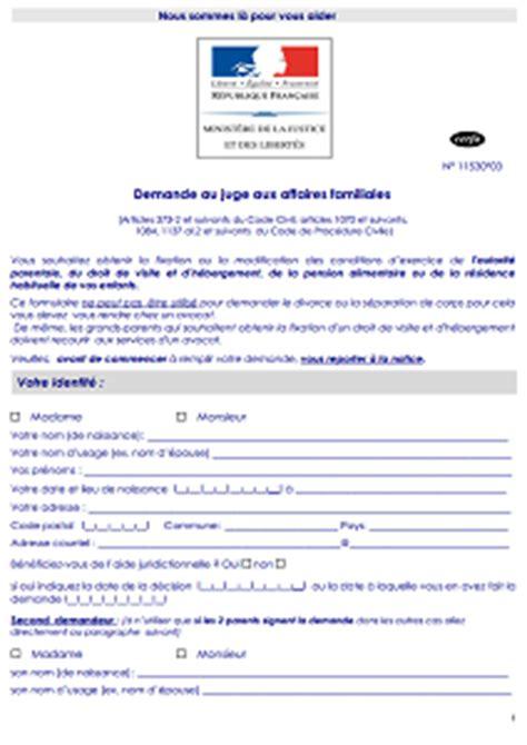 Modification Jugement Jaf by Cerfa N 176 11530 03 Demande De R 233 Vision Modification Ou
