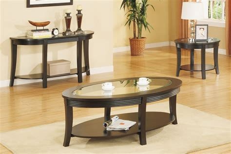 coffee table set oval coffee table set matching console and end tables