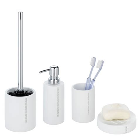 bathroom accessories white wenko bathroom accessories set white at