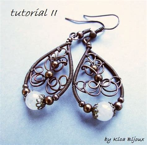 jewelry tutorial tutorial ii jewelry tutorials wire wrapped earrings