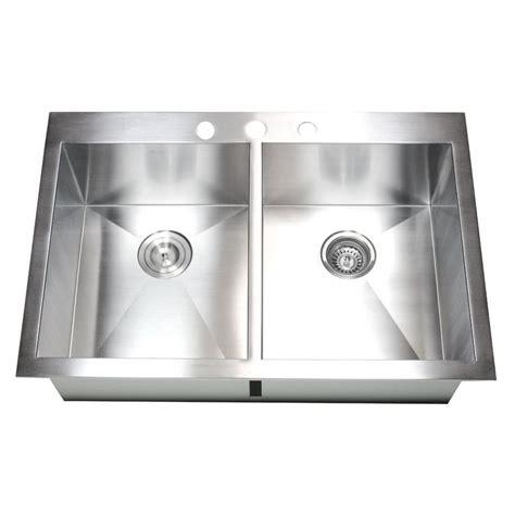 stainless steel kitchen sinks top mount 33 inch top mount drop in stainless steel bowl