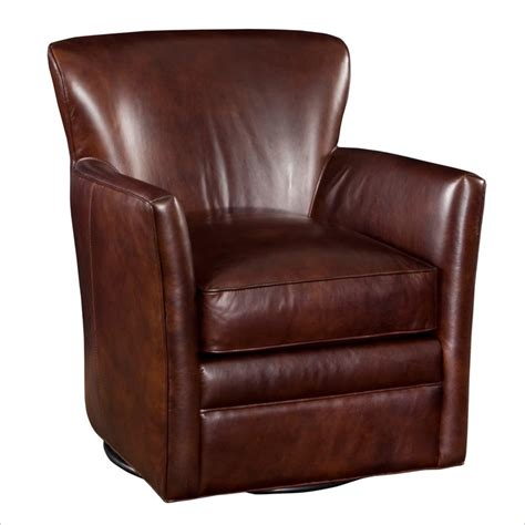 leather swivel club chair furniture seven seas swivel halona leather