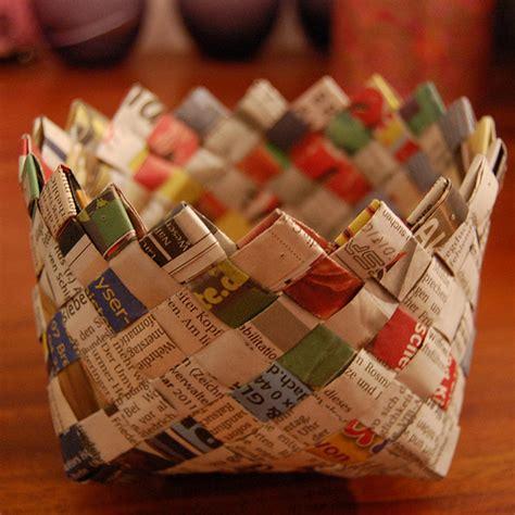 craft paper basket craftionary