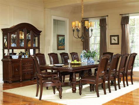 Antoinette Dining Room Set antoinette warm brown extendable double pedestal dining