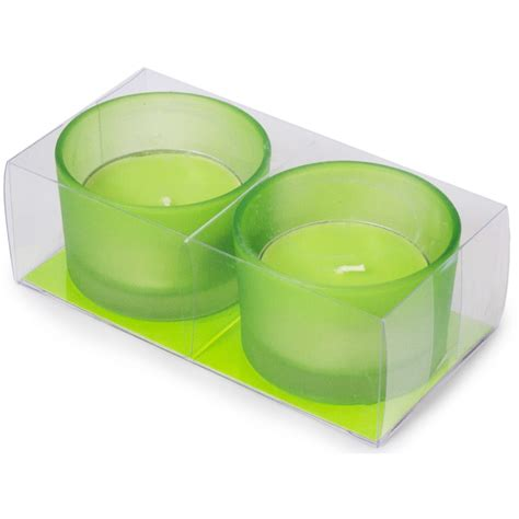Large Candle Set by Large Tea Light Candles Green Set Of 2 Cdn148 60
