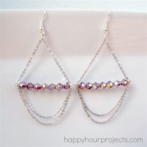 how to make chandelier earrings with simple chandelier earrings happy hour projects