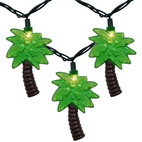 string lights tree outdoor tropical palm tree string lights