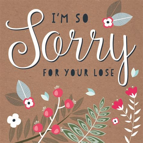 card for your sorry for your loss card by allihopa notonthehighstreet