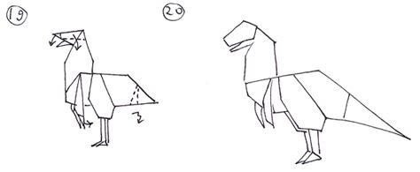 origami allosaurus how to make an allosaurus