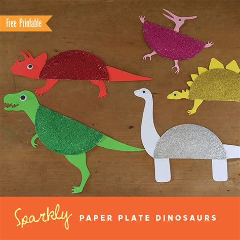 dinosaur crafts sparkly paper plate dinosaurs by the craft