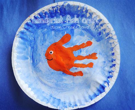 fish craft for handprint fish craft