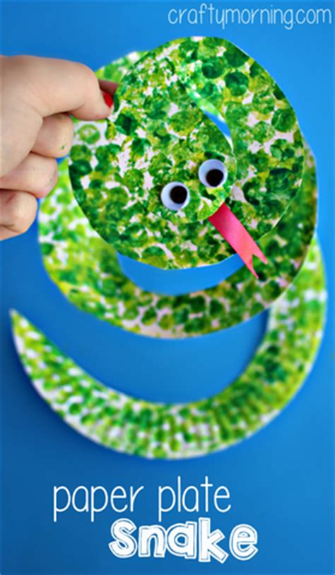 paper plate snake craft creative paper plate crafts for to make crafty morning