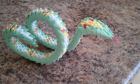origami snake how to make 3d origami snake part 1