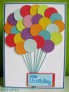 ideas of birthday cards diy fyi creatively created