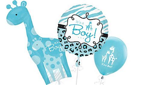 Safari Blue Baby Shower City by Baby Boy Balloons Favors Ideas