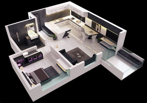 one bedroom apartment designs 25 one bedroom house apartment plans