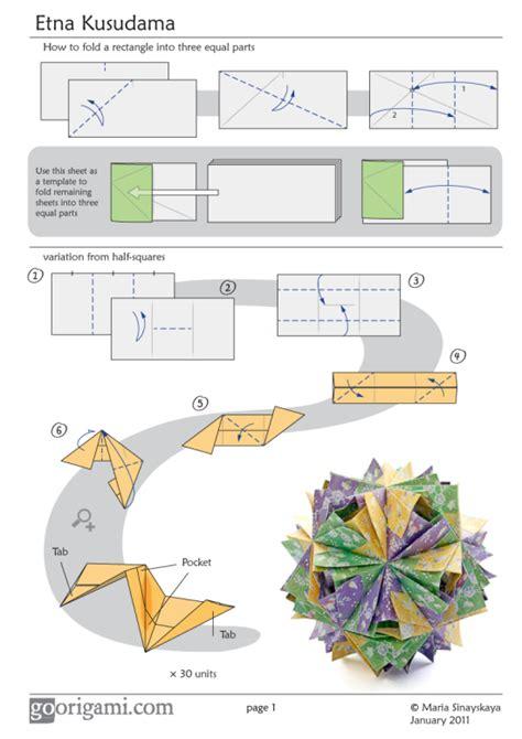 origami page etna kusudama diagram page 1 go origami