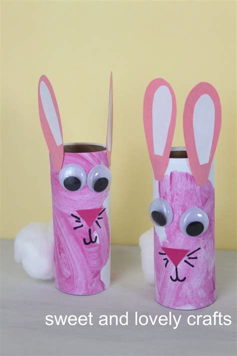 easter toilet paper roll crafts sweet and lovely crafts toilet paper roll bunnies