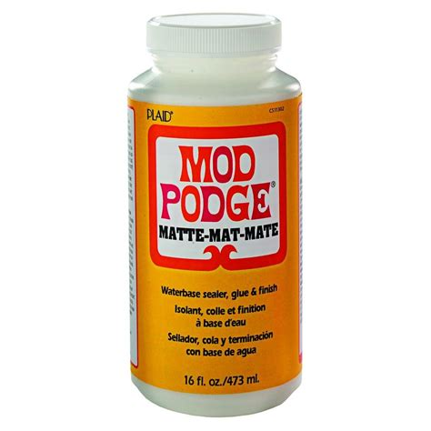 decoupage glue mod podge 16 oz matte decoupage glue cs11302 the home depot