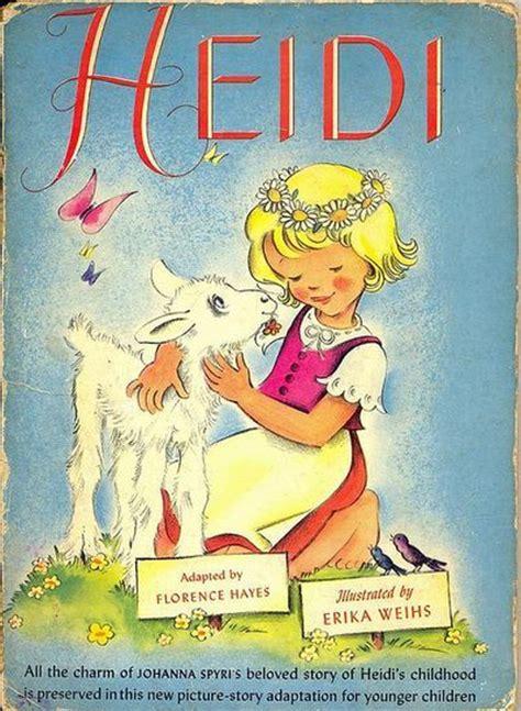 heidi picture book 1946 book cover heidi books