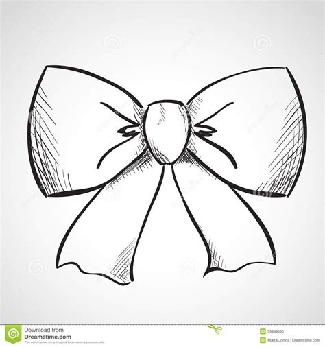sketch bow stock illustration image 39849030