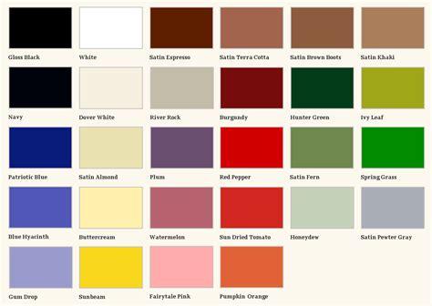 paint colors card krylon fusion color card spray paint my world