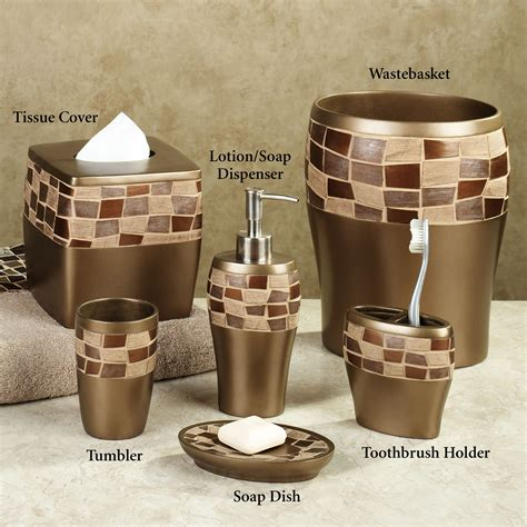 brown bathroom accessories sets bath accessories sets ideas homesfeed