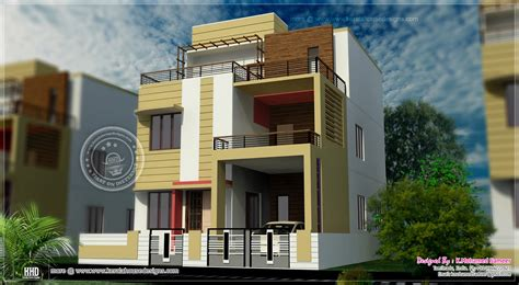 3 floor house plans 3 story house plan design in 2626 sq kerala home