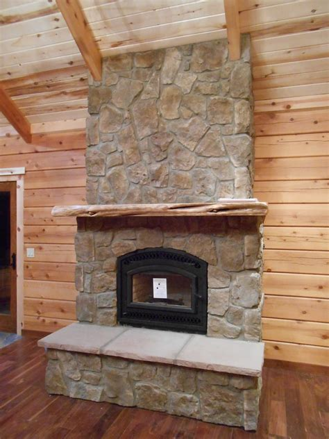 rock fireplaces fireplace with rock wall interior design ideas