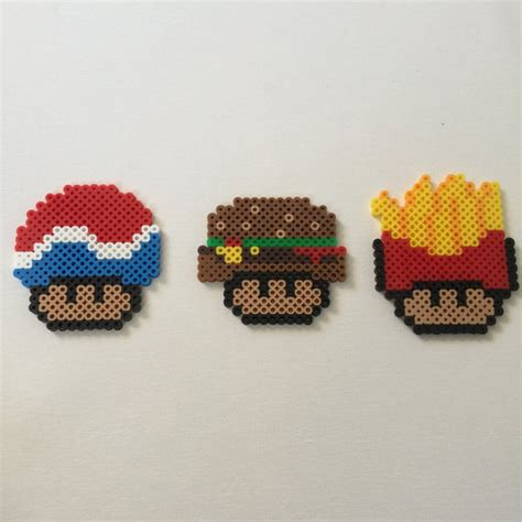 food perler items similar to perler bead fast food mushrooms on etsy