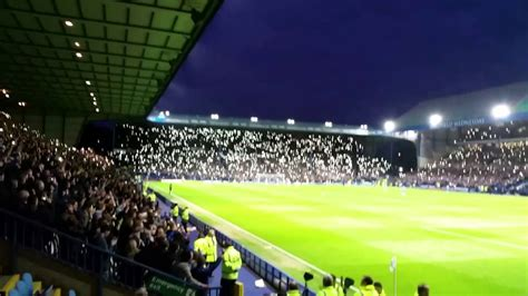 sheffield lights sheffield wednesday fans light up hillsborough