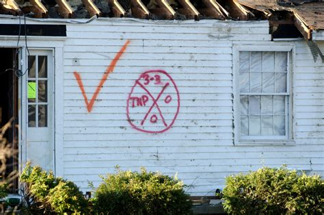 disaster spray paint x fema markings and why they are important to and