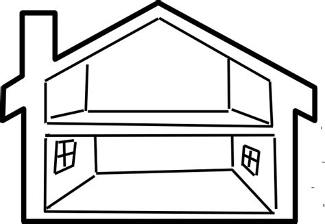 Free House Designs cartoon house outline clipart best