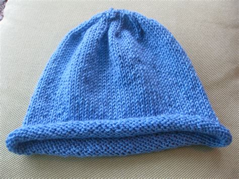knit hat size 8 needles pieced brain knitted hat
