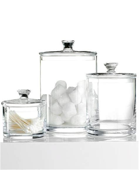 hotel collection bathroom accessories hotel collection glass jar collection only at macy s