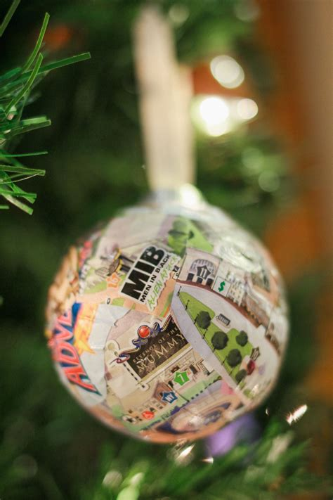 map ornaments diy universal studios map ornament
