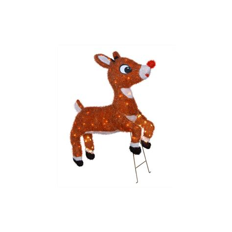 rudolph the nosed reindeer outdoor decorations shop rudolph the nosed reindeer 32 quot animated outdoor