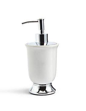 m and s bathroom accessories tulip soap dispenser