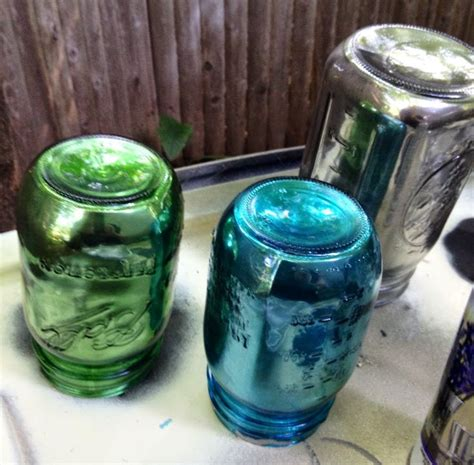 spray painting glass jars the 25 best ideas about looking glass paint on