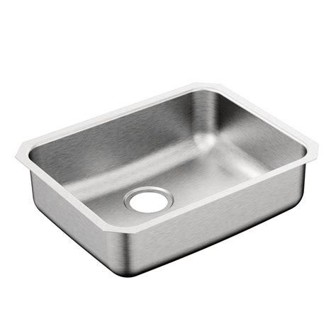 moen undermount kitchen sinks moen 1800 series undermount stainless steel 23 in single