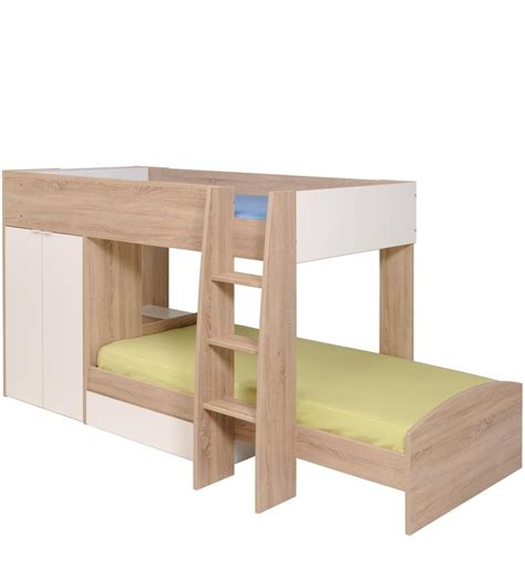mid sleeper bunk beds buy mcryan midsleeper bunk bed in oak white finish by