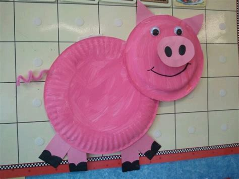 pig paper plate craft paper plate pig great for national pig day march 1st