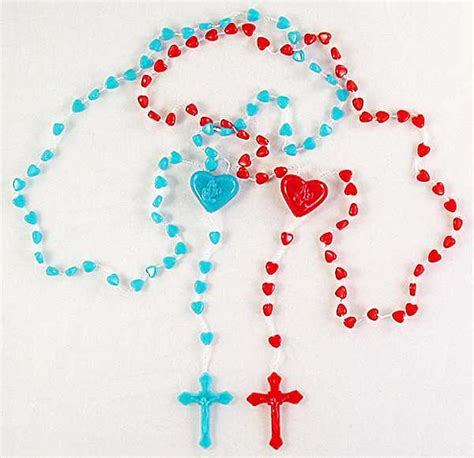 plastic rosary corded plastic rosaries or blue hearts inexpensive
