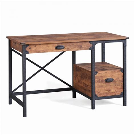 rustic writing desk writing desk with drawers vintage rustic table